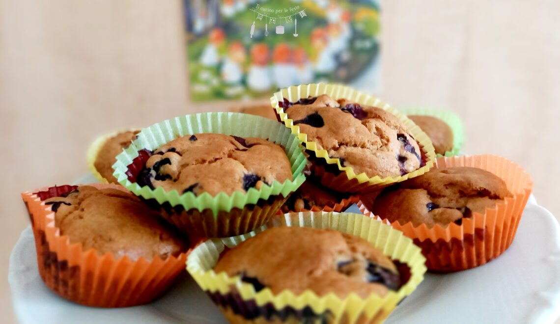 Muffins ai mirtilli nosugar