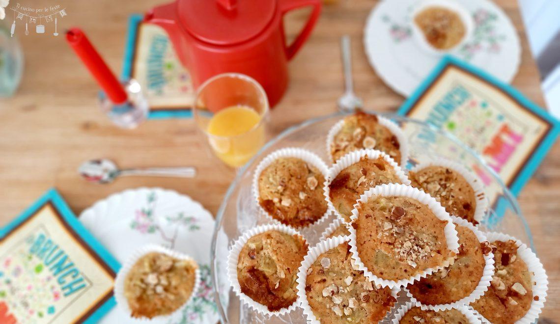 Muffins al rabarbaro e toblerone bianco