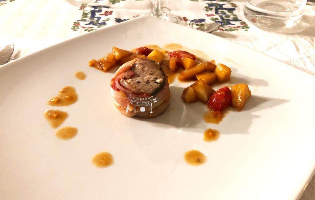 Filetti di maiale con pancetta aromatizzati all'aceto balsamico