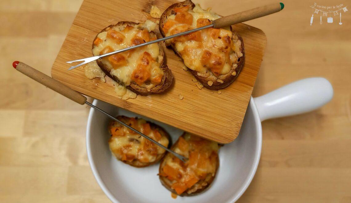 Bocconcini di fondue con zucca