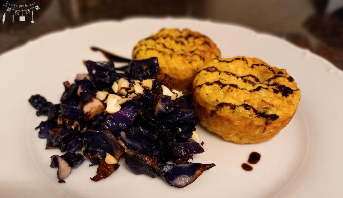 Muffins di verdure e miglio al profumo di zenzero